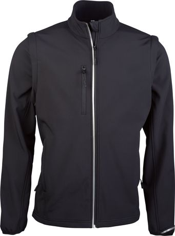 Veste softshell manches amovibles PA323 - noir - homme