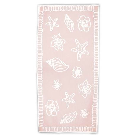Serviette de plage - T1-HAWAII - rose saumon