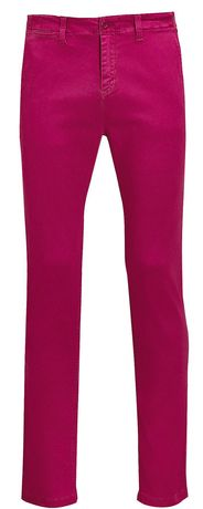 pantalon toile stretch homme - 01424 L33 - rose