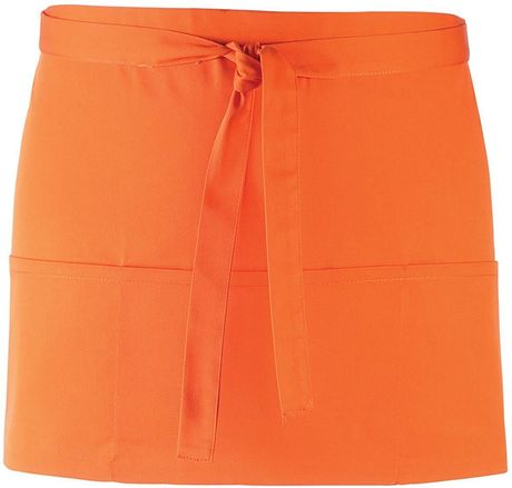 Mini tablier taille - 3 poches - PR155 - orange