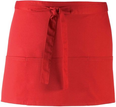 Mini tablier taille - 3 poches - PR155 - rouge