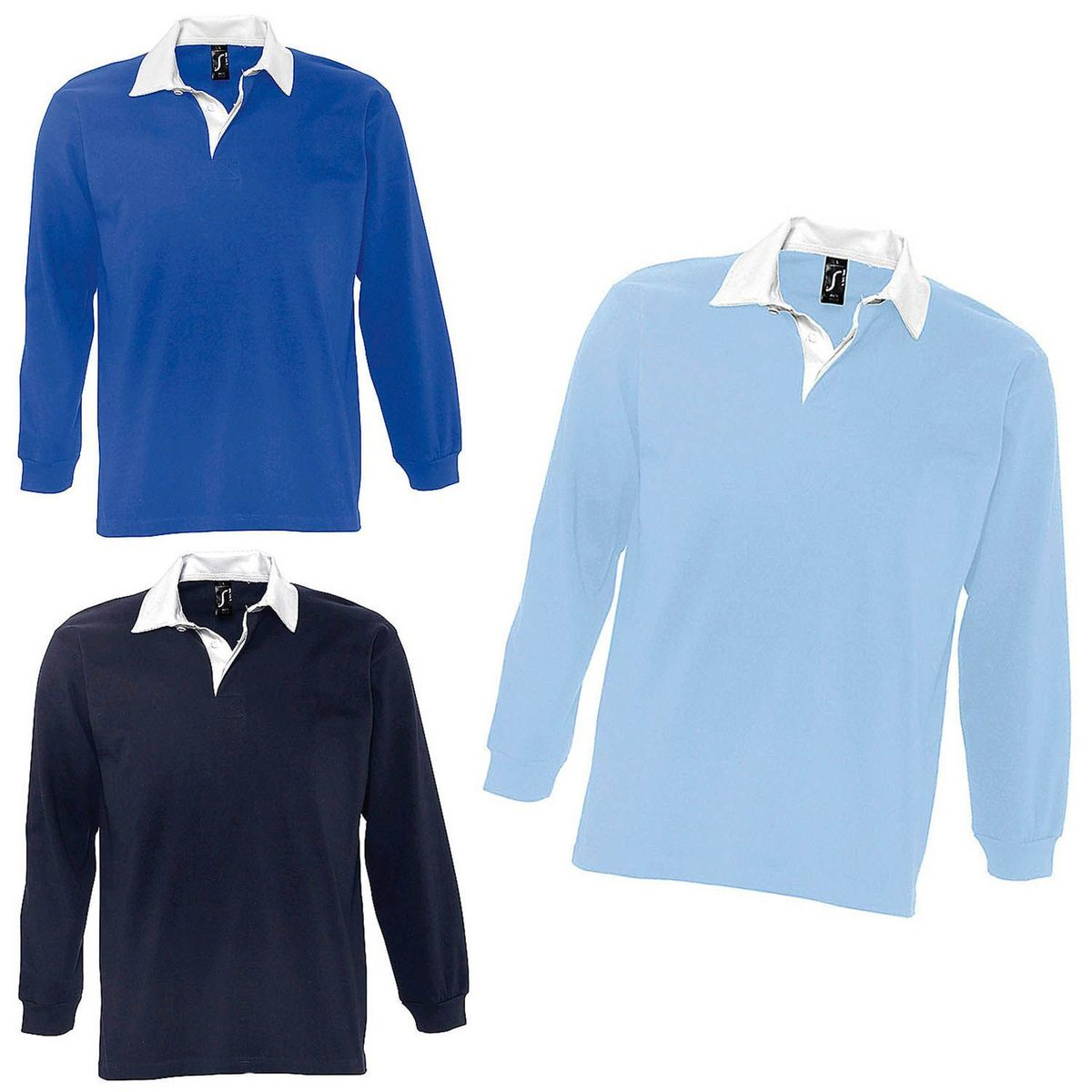 polo homme manches longues style rugby