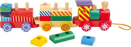 Train en bois multicolore - 3498