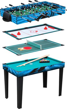 Table multifonctionnelle 4 en 1 - 11279 - billard - babyfoot - ping-pong