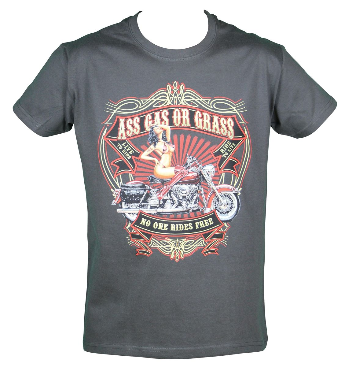 t-shirt biker USA Pin'up