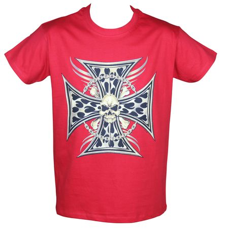 T-shirt homme manches courtes - 3480 Choppers USA - rouge