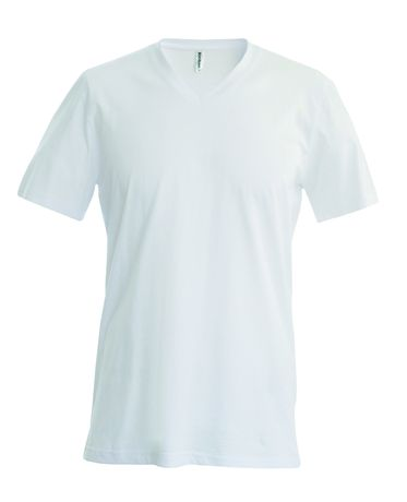T-shirt manches courtes col V - K357 - blanc - homme
