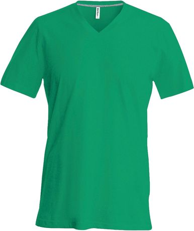 T-shirt manches courtes col V - K357 - vert kelly - homme