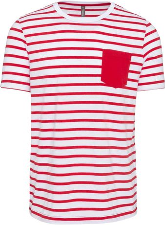 T-shirt manches courtes marin - K378 - rouge - homme