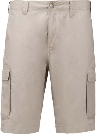 bermuda léger multipoches homme K755 - beige