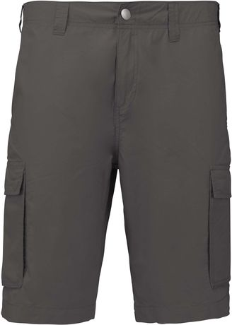 bermuda léger multipoches homme K755 - gris