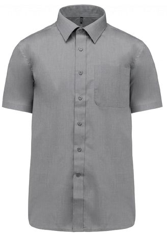Chemise popeline manches courtes - K551- gris merle - homme