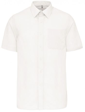 Chemise popeline manches courtes - K551- blanc - homme