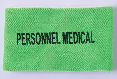 Brassard élastique foot sports collectifs - PERSONNEL MEDICAL - vert - PA677