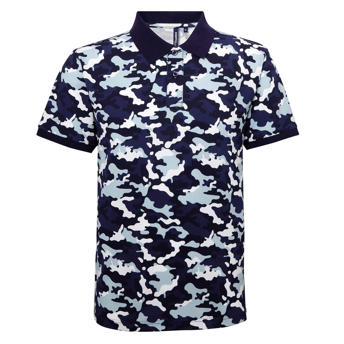 Polo camouflage - army homme - AQ018 - bleu
