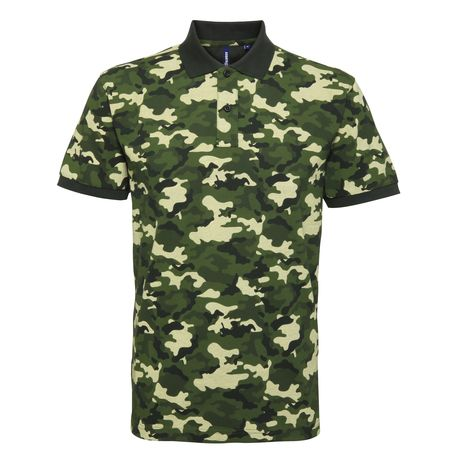 Polo camouflage - army homme - AQ018 - vert