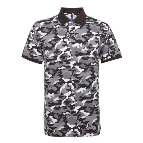 Polo camouflage - army homme - AQ018 - gris