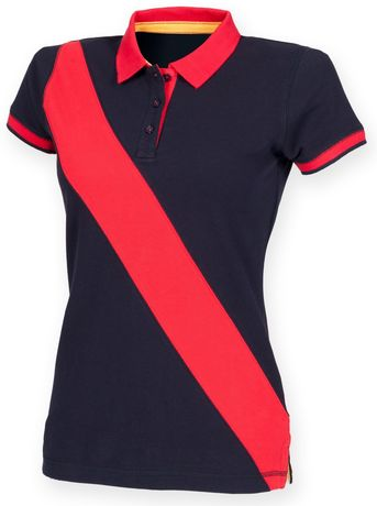 Polo rugby femme - FR213 - marine et rouge