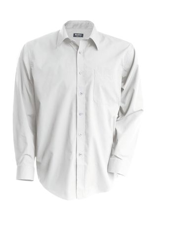Chemise popeline manches longues - K545 - blanc - homme