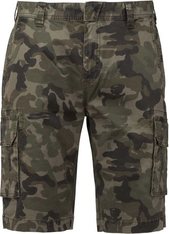 bermuda multipoches homme K754 - vert olive camouflage