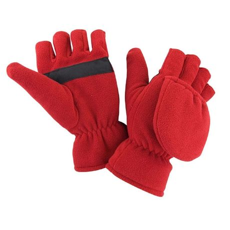 Mitaines transformables en moufles - R363X rouge - mixte homme femme
