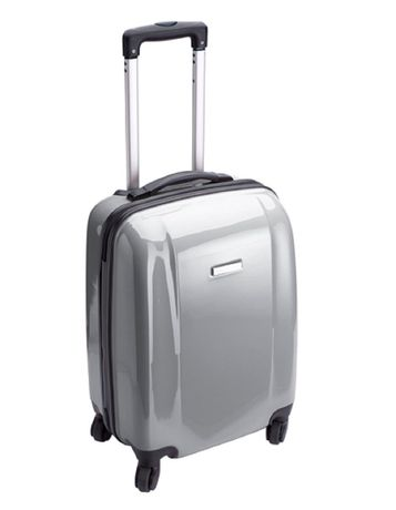 Valise cabine rigide trolley 4 roulettes - 40 litres - NT5392 - gris