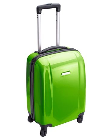 Valise cabine rigide trolley 4 roulettes - 40 litres - NT5392 - vert