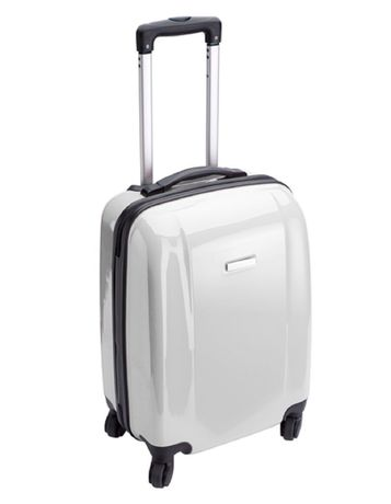 Valise cabine rigide trolley 4 roulettes - 40 litres - NT5392 - blanc