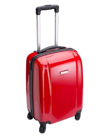 Valise cabine rigide trolley 4 roulettes - 40 litres - NT5392 - rouge