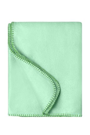 Plaid couverture polaire bords droits - JN1901 - vert pastel