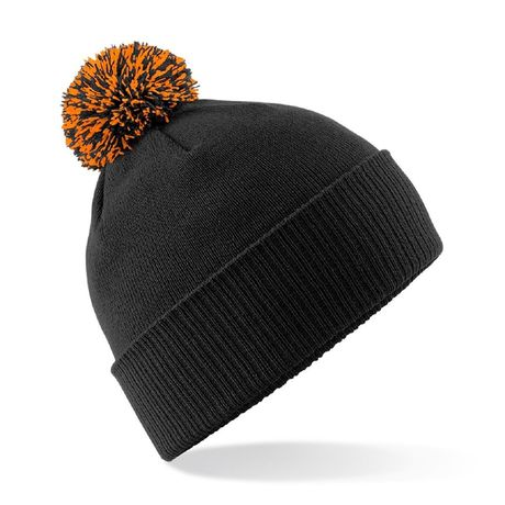 Bonnet snowstar - Adulte - B450 - noir et orange