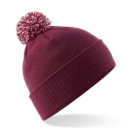 Bonnet snowstar - Adulte - B450 - rouge bordeau et blanc