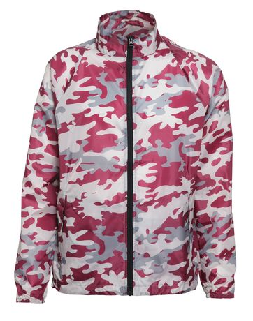 Veste coupe-vent imperméable mixte - TS011 - rouge bordeau camo