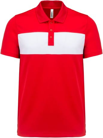 Polo sport - PA493 - rouge - manches courtes