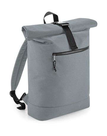 Sac à dos roll-top polyester recyclé - BG286 - gris