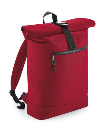 Sac à dos roll-top polyester recyclé - BG286 - rouge