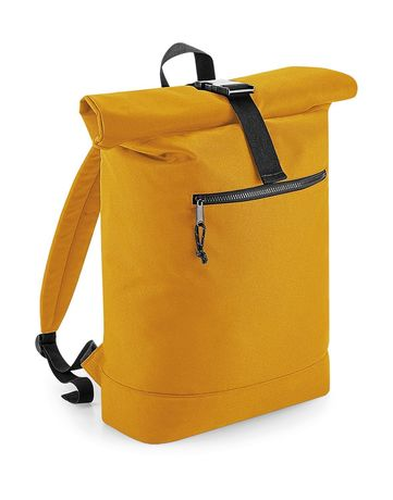 Sac à dos roll-top polyester recyclé - BG286 - jaune moutarde