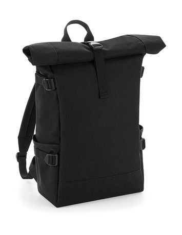 Sac à dos roll-top 22L - compartiment ordinateur - BG858 - noir