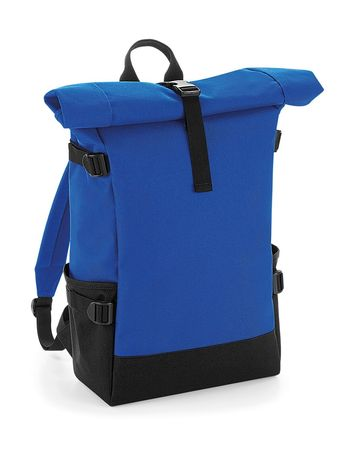 Sac à dos roll-top 22L - compartiment ordinateur - BG858 - bleu roi