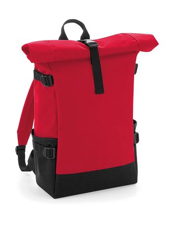 Sac à dos roll-top 22L - compartiment ordinateur - BG858 - rouge