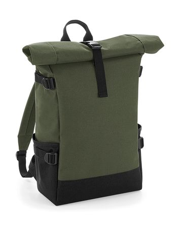 Sac à dos roll-top 22L - compartiment ordinateur - BG858 - vert olive militaire