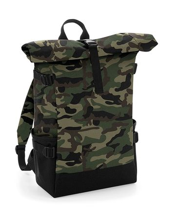 Sac à dos roll-top 22L - compartiment ordinateur - BG858 - vert camouflage militaire army