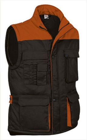 Doudoune sans manches - Homme - REF THUNDER - black orange