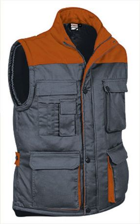 Doudoune sans manches - Homme - REF THUNDER - grey orange