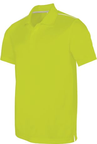 Polo homme sport - PA480 - vert lime - manches courtes