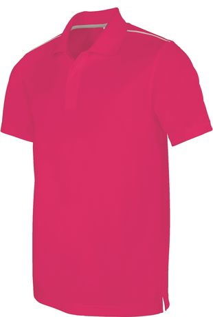 Polo homme sport - PA480 - rose fuchsia - manches courtes