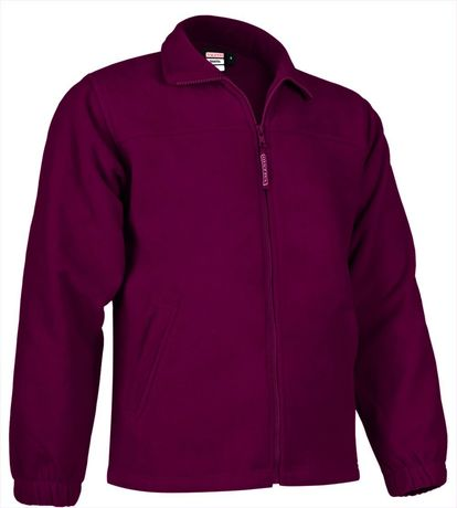 Veste polaire zippée - Homme - REF DAKOTA - rouge bordeau