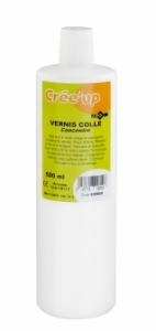 Vernis colle concentré  - flacon 500 ml - JPC 699800 - Médium - serviettage - collage
