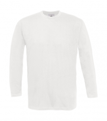 T-shirt manches longues homme - col rond - TU005 - blanc