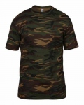 T-shirt manches courtes army chasse pêche ANVIL Camouflage vert kaki